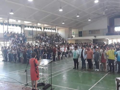 Mass induction 2019 at TARLAC AGRICULTURAL UNIVERSITY