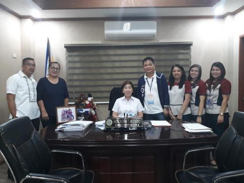 Meeting with Mayor Nora Modomo and Nfa Tarlac, headed by Asst. Provincial Manager Antonio A. Puno and staff