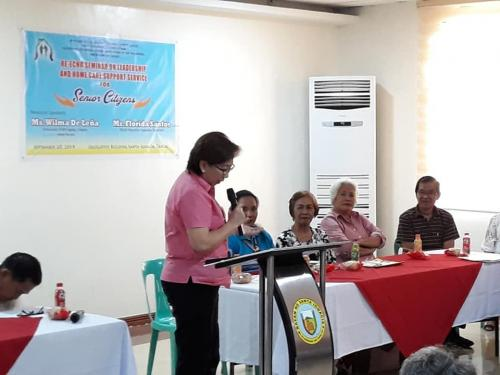 Re-Echo Seminar on Leadership and Home Care Support Service for Senior Citizens