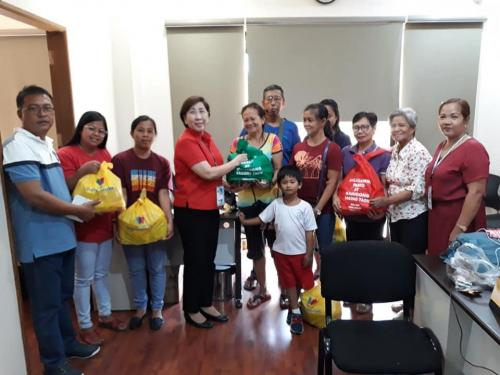 Distribution of Gift Packs for the National Kidney and Transplant Institute and Philippine Heart Center Patients from Cong. Charlie Cojuangco