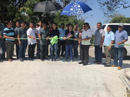 Inauguration and Ribbon Cutting of the newly Concreted Farm to Market Road in Purok Riverside, Brgy. Caanamongan, Santa Ignacia, Tarlac