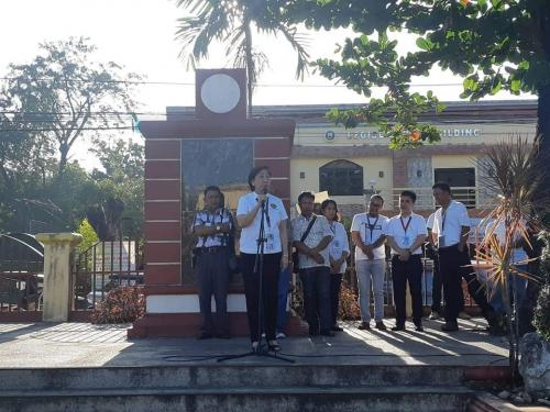 Lgu Santa Ignacia's Regular Monday Flag Raising Program